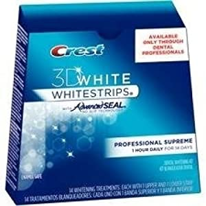 Crest 3D White Whitestrips Luxe Professional Effects Teeth Whitening Kit is like an eraser for your teeth. Remove your teeth stains from the last 14 years in just 30 minutes a day. The no-slip grip means the strips stay put until you take them off, a...