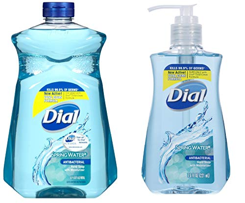 Dial Hand Soap, 52 Oz Refill Bundle With 7.5 Oz Pump (Spring Water) (Dial Himalayan Pink Salt Hand Soap Refill)