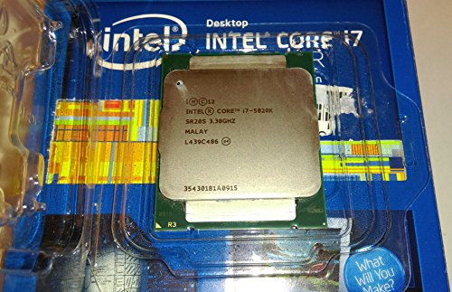 Intel BX80648I75820K Core i7-5820K Haswell 6-Core 3.3GHz LGA 2011 15MB L3 Cache 140W Processor