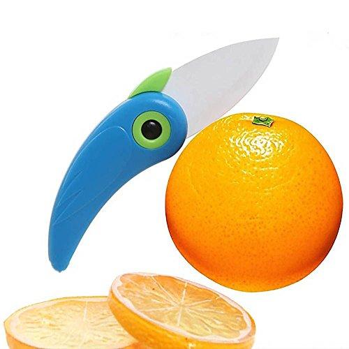 HuntGold ABS Handle Mini Bird Kitchen Fruit Vegetable Ceramic Folding Pocket Cutter Cutlery Tool Random Color