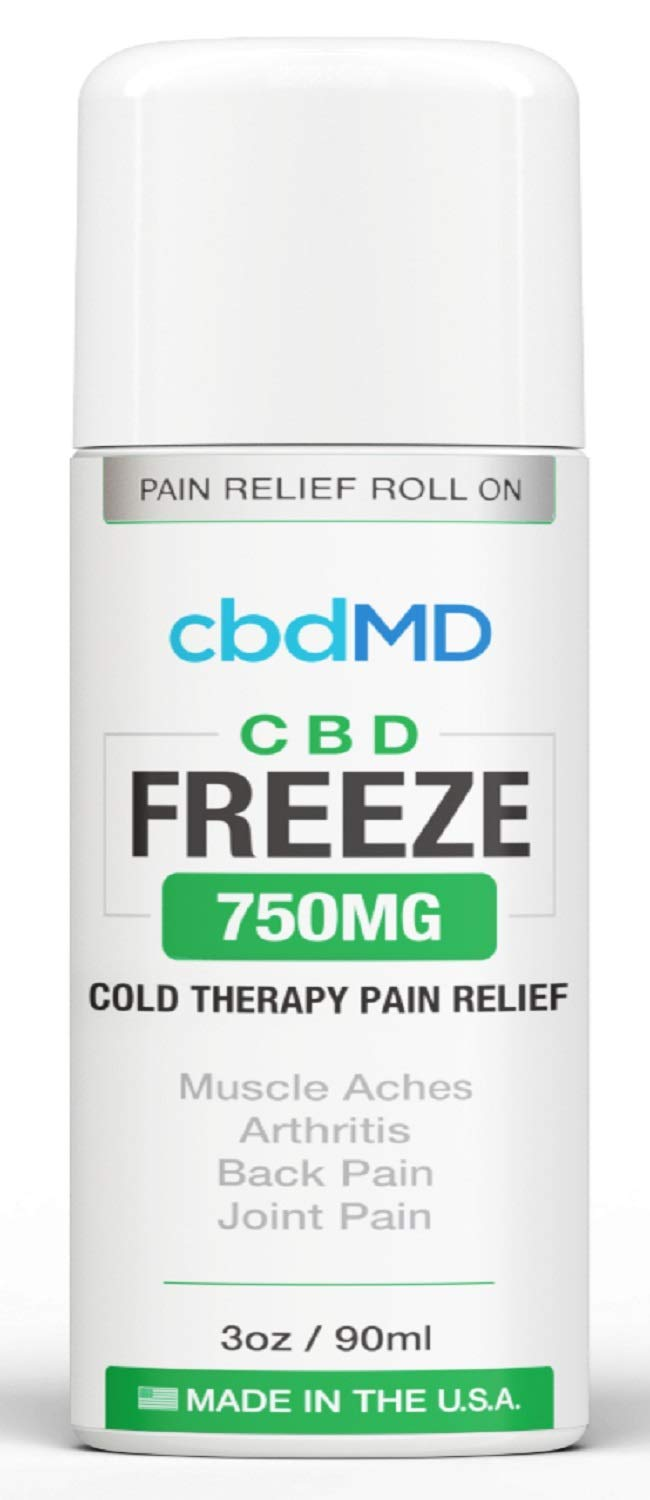 750 mg Hemp Organic Freeze ROLL ON Pain Relief Cold Topical Therapy Lotion Vegan Arthritis Back Pain knees USA Grown Gluten Free Non GMO Joint Health Skin Immune Support by MD Organics