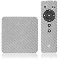Skinomi TechSkin - Pivos XIOS DS Media Player - Carbon Fiber Silver Full Body Skin Protector / Front & Back Premium HD Clear Film / Ultra Invisible & Anti Bubble Shield