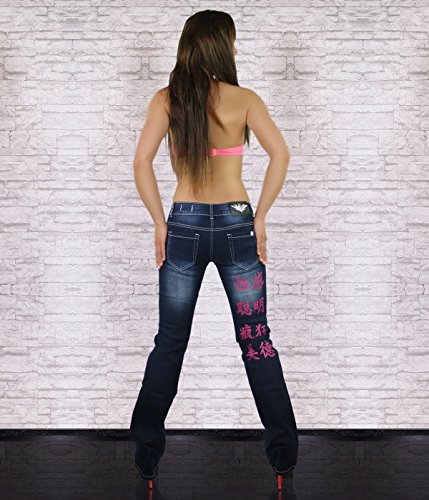 Blue Navy Age Jeans Crazy Pink Boot Cut Donna P1FUAqB