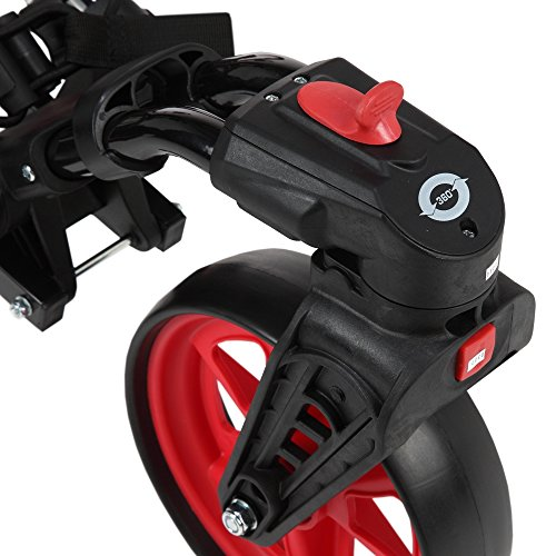 Caddymatic Golf 360° SwivelEase 3 Wheel Folding Golf Cart Black/Red by Caddymatic (Image #5)