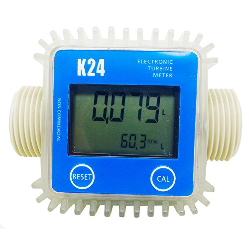 CBK Authentic New Blue Pro K24 Turbine Digital Diesel Fuel Flow Meter For Chemicals Water by CBK