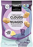 Frankie's Organic Chips - Crunchy White Cheddar Cheese Puffs Baked Healthy Snacks - Gluten Free, No GMO, Sprouted Protein Snacks - 120 Grams
