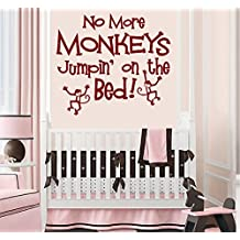 "NO MORE MONKEYS JUMPIN' ON THE BED #11 ~ WALL DECAL 18"" X 21"" LRG"