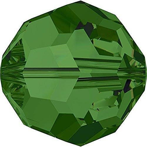 (5000 Swarovski Crystal Beads Round Fern Green | 6mm - Pack of 20 | Small & Wholesale Packs)