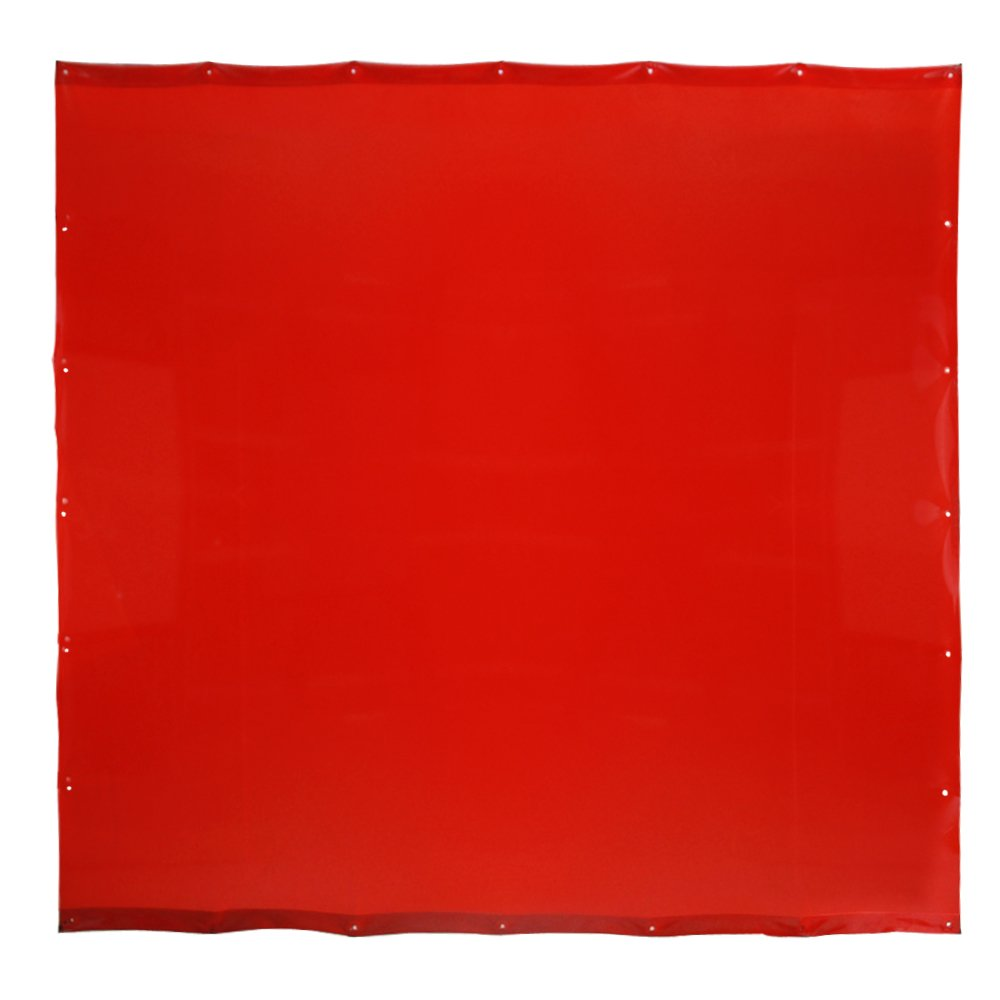 VIZ-PRO Red Vinyl Welding Curtain/Welding Screen, 6' x 6' by VIZ-PRO