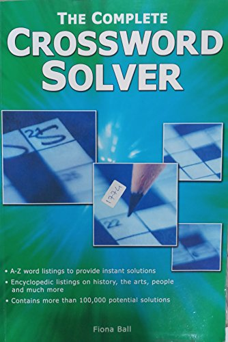 The Complete Crossword Solver unknown