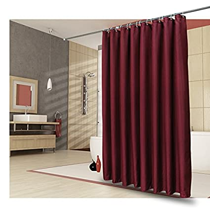 Ufelicity Washable Polyester Shower Curtain Non Toxic 48 Inch By 72 Solid Stylish