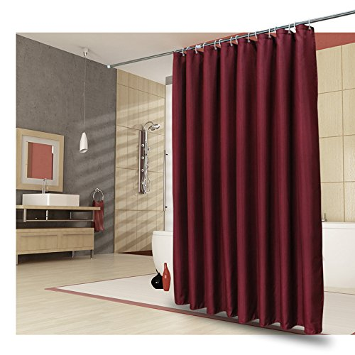 48 Inch By 72 Inch Solid Stylish Bath Curtain Anti-water and Mildew Resistant with Eyelets for Hotel Bath Ufelicity Washable Polyester Shower Curtain Non-toxic Burgundy