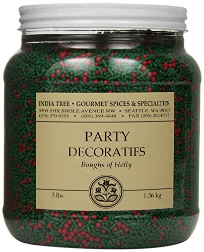 India Tree Boughs of Holly Party Decoratifs, 3 -