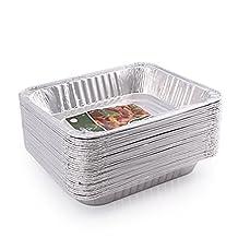 Jetfoil 1843 Aluminum Foil Steam Table Half Size Deep, 9x13 Pans (30 Pack)
