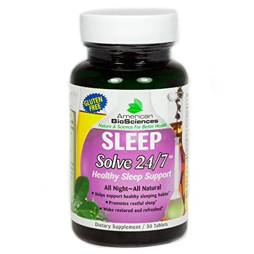 American BioSciences SLEEPSolve 24/7 Healthy Heart Sleep Support, Gluten-Free – 30 Tablets (Solve 24/7 Healthy)
