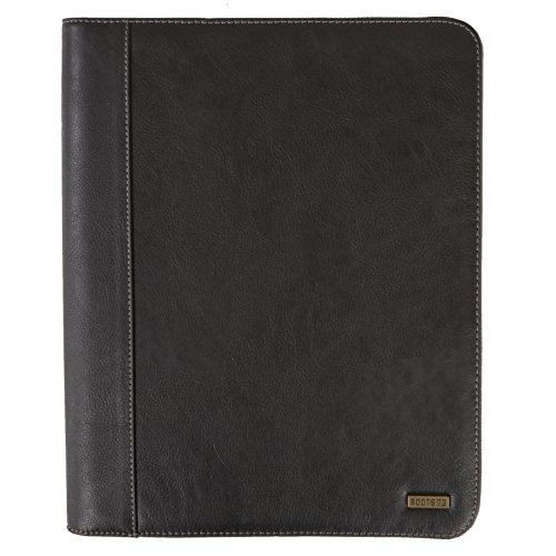 Roots 73 Executive Zip Around Padfolio Organizer with Tablet Holder Black