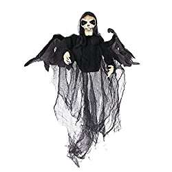 Sweet Devil Animated Hanging Skeleton Ghost Halloween Decoration