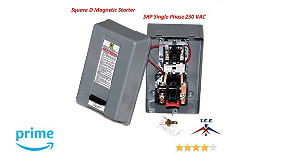 Square d magnetic motor starter 8911dpsg32v09 8911dpso32v09 5hp 1 ph