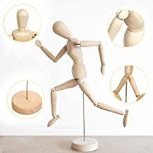 Wooden Human Art posable Drawing Flexible joints Mannequin Manikins Figures Doll Model for Artists sketch charcoal Home Office Desk Decoration children toys gift 12''