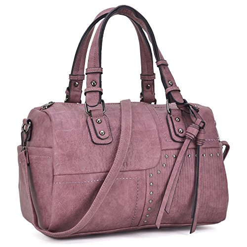 Purple Satchel Handbag - 1