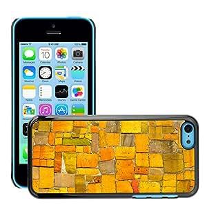 Print Motif Coque de protection Case Cover // V00002754 patrón de azulejos del mosaico amarillo // Apple iPhone 5C