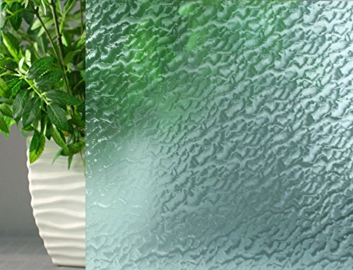 Aqua Rippled, Decorative, Privacy, Static Cling Window Film (5