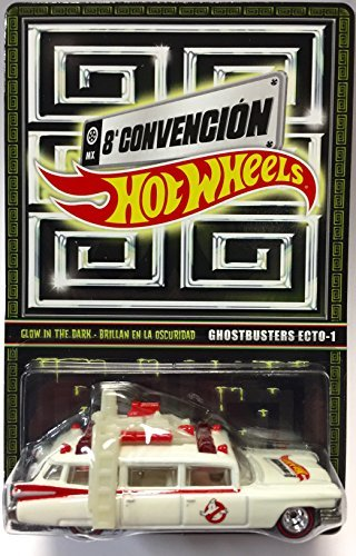 Hot Wheels Ghostbusters Ecto-1 Glow In The Dark Mexico Convention Exclusive 1/4000