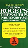The New Roget's Thesaurus, Norman Lewis and American Heritage Publishing Staff, 042509975X