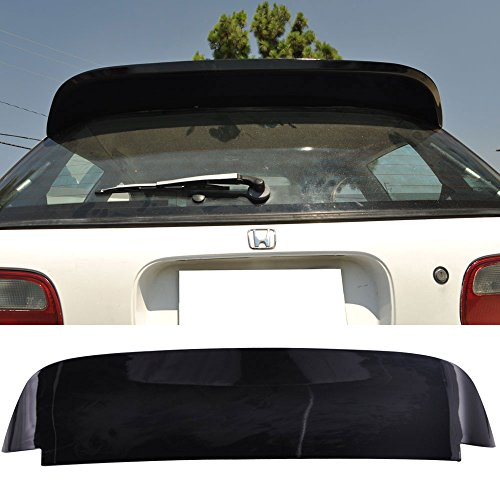 Pre-painted Roof Spoiler Fits 1992-1995 Honda Civic | SPOON Duckbill Style Painted Glossy Black ABS Rear Wind Visor Spoiler Wing Bodykits Other Color Available By IKON MOTORSPORTS | 1993 1994