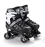 Kid Quad Roller Skates adjustable ABEC -7 , l , black