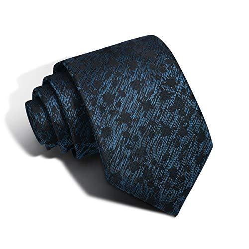 (Ties Men Black Silk Necktie Jacquard Classic Woven Elegant Neck Ties for Christmas (color03))