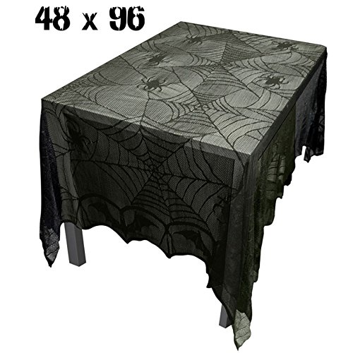 Katoot@ Spider Web Tablecloth Halloween Party Decoration for Party 244*122cm Haunted House Halloween Decorations for Home Hotel Banquet -