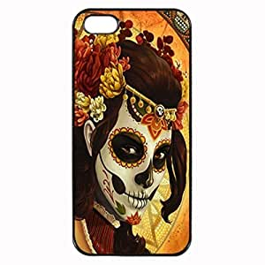 Day of the dead mask Unipue Custom Image Case iphone 5 case , iphone 5S case, Diy Durable Hard Case Cover for iPhone 5 5S , High Quality Plastic Case By Argelis-sky, Black Case New