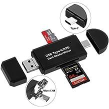USB 2.0 TF , SDXC, SDHC, SD, MMC, RS-MMC, Micro SDXC, Micro SD, Micro SDHC Card Reader Adapter Micro USB OTG / Type C USB-C OTG Adapter for Smartphones / Tablets / PC / Laptop / Notebook