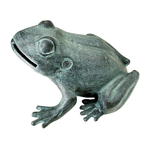 Design Toscano Medium Bull Frog Cast Bronze Garden Statue