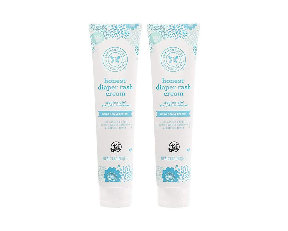 Honest Diaper Rash Cream, 2.5 Ounce (2 Bottles)