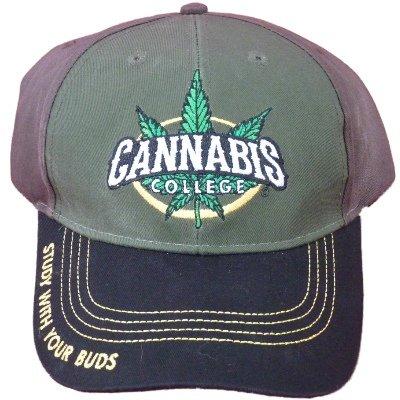 5ff071fcaa92 Capsmith Cannabis 420 Marijuana Themed Ball Cap Hats (One Size ...