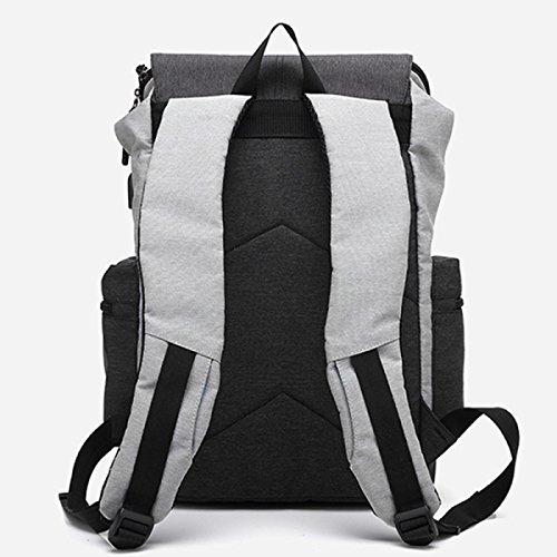 RAN Oxford Tuch Schultertasche Reise Rucksack Externe Usb Ladung Schnittstelle Student Tasche