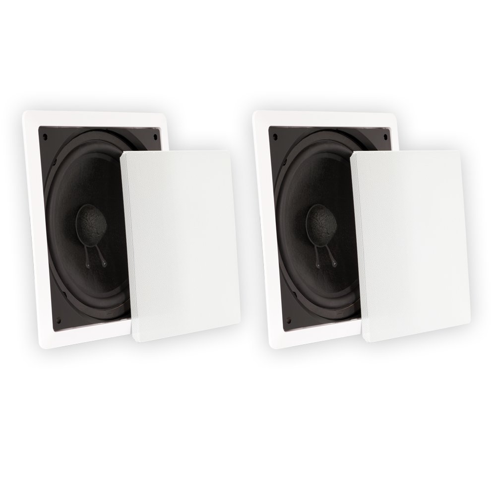 Theater Solutions TS1000 Passive 10'' Home Theater In Wall Subwoofers 2 Sub Set