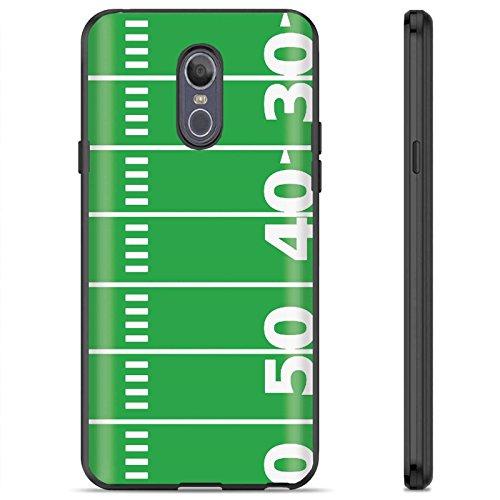 [Armor Xtreme] LG LG Stylo 4/Q Stylus [Black] Soft Slim Impact Protector Phone Case [FootBall Field -