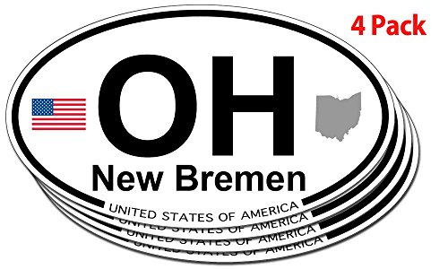 New Bremen, Ohio Oval Sticker - 4 pack