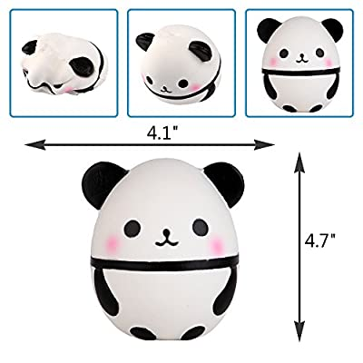 Anboor 3.9 Inches Squishies Panda Egg Kawaii Soft Slow Rising Mini Animal Squishies Squeeze Toys for Kids Gift Collection: Toys & Games