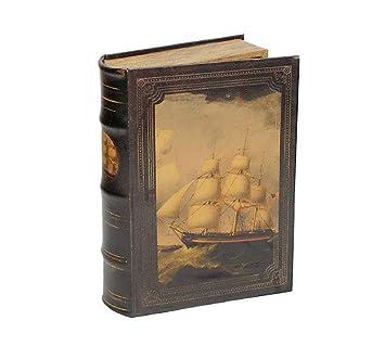 Hohles Buch mit Geheimfach Buchversteck Segelschiff Antik-Stil 26cm ...