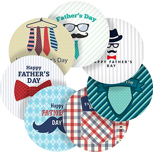 Striped Happy Father's Day Reward Sticker Labels, 35 Stickers @ 1.4