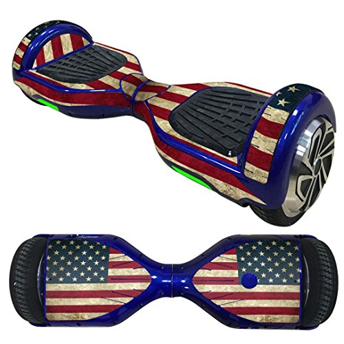 Sandistore Protective Vinyl Skin Decal for 6.5in Self Balancing Scooter Hoverboard 2 Wheels (D) (Scooters Electric Cheapest)