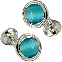 Daptsy Cufflinks for Men Creative Designer Crystal & Metal Bullet and Whale Back Men's Cufflinks