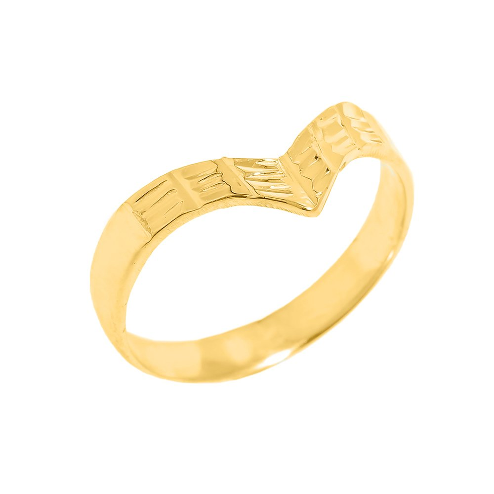 Solid 10k Yellow Gold Fine Band Egyptian Thumb Ring (Size 10.5)