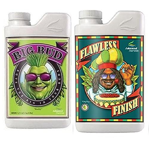 Advanced Nutrients Big Bud and Flawless Finish 4 Liter with Conversion Chart and 3ml Pipette-4 Liter by Advanced Nutrients