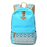 Abshoo Cute Lightweight Canvas Bookbags School Backpacks for Teen Girls (Sky Blue)