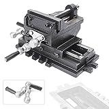 Mallofusa 4'' Cross Slide Drill Press Vise X-Y Metal Milling 2 Way HD
